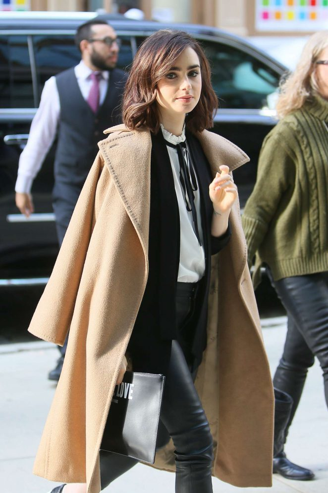 Lily Collins at Her Hotel in New York