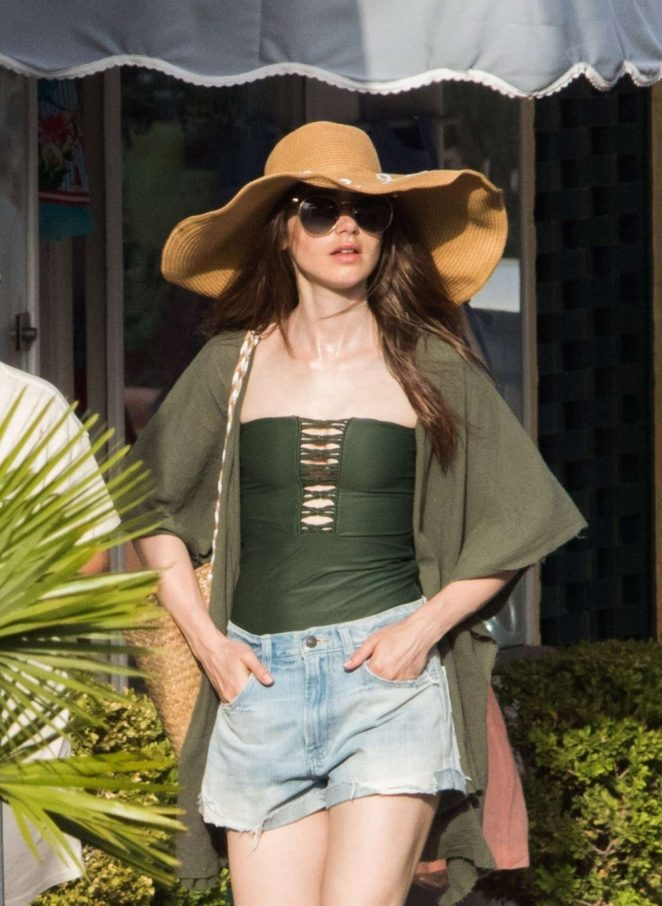 Lily Collins at Ischia Global Festival 2018 in Ischia Porto