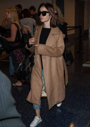 Lily Collins at LAX Airport -05