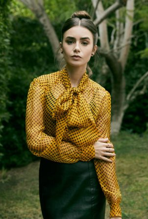 Lily Collins - Backstage Magazine 2020