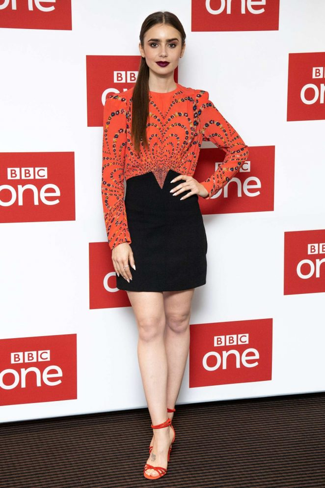 Lily Collins - BBC One Les Miserables Photocall in London