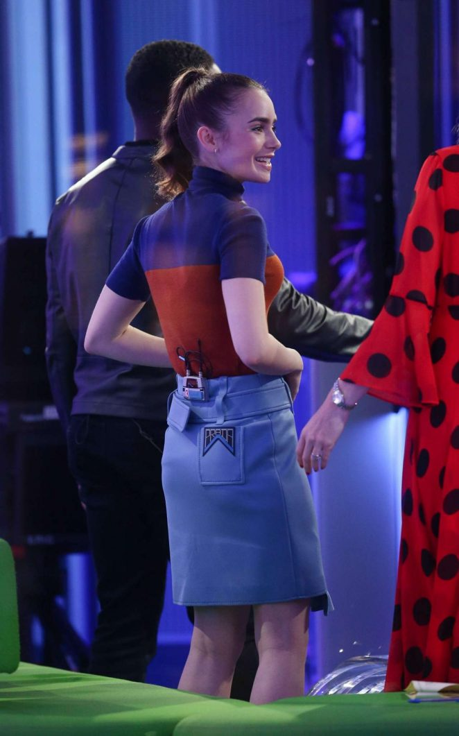 Lily Collins – BBC's 'The One Show' in London