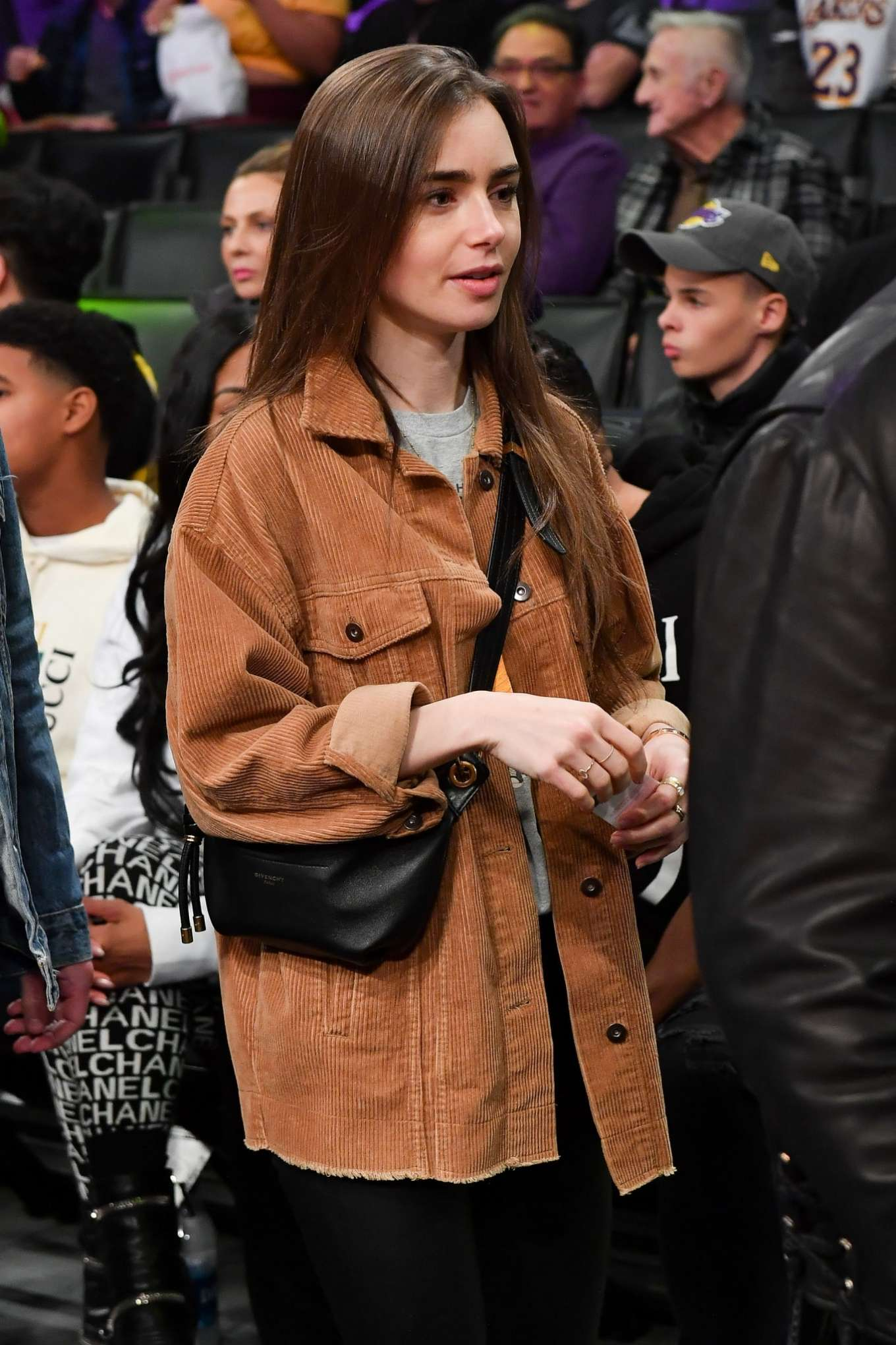 Lily Collins - Cleveland Cavaliers vs Los Angeles Lakers at Staples Center in LA