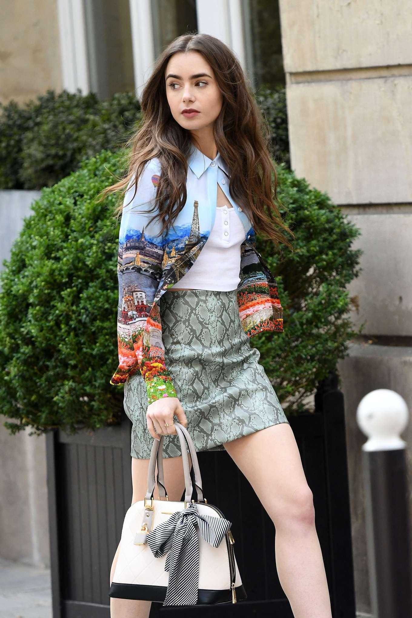 Lily Collins - 'Emily in Paris' set in Paris France