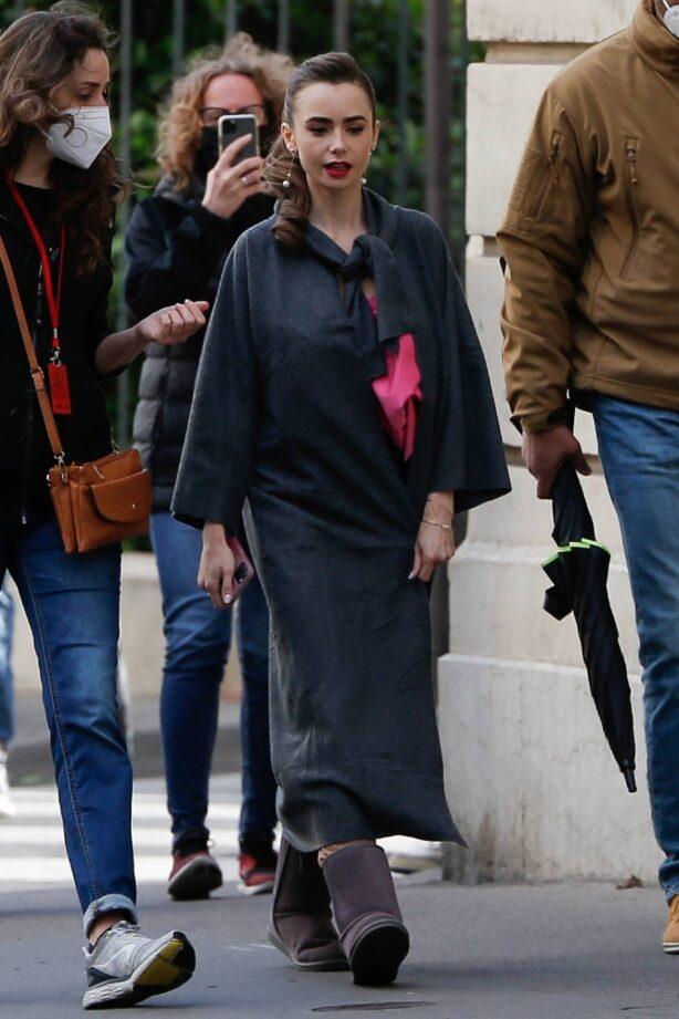 Lily Collins - 'Emily in Paris' set in Paris