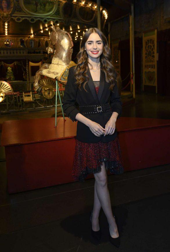 Lily Collins - 'Emily in Paris' Set Visit in Paris