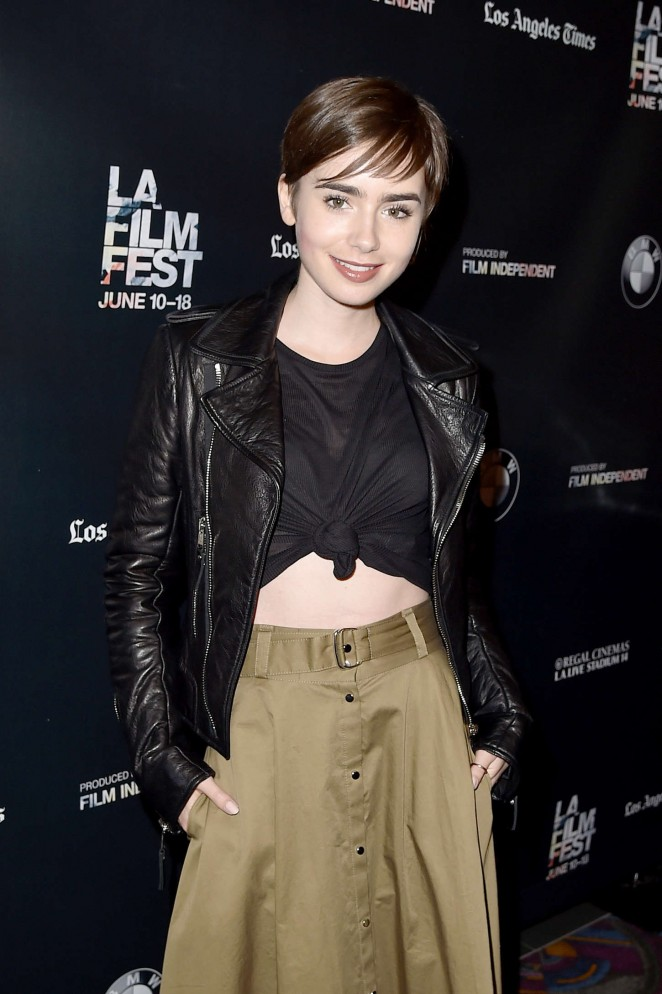 Lily Collins - Fast Times At Ridgemont High Live Read at 2015 LA Film Festival