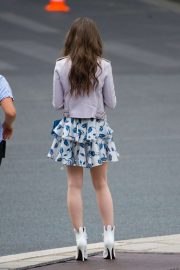 Lily Collins - Filming 'Emily in Paris' in Paris