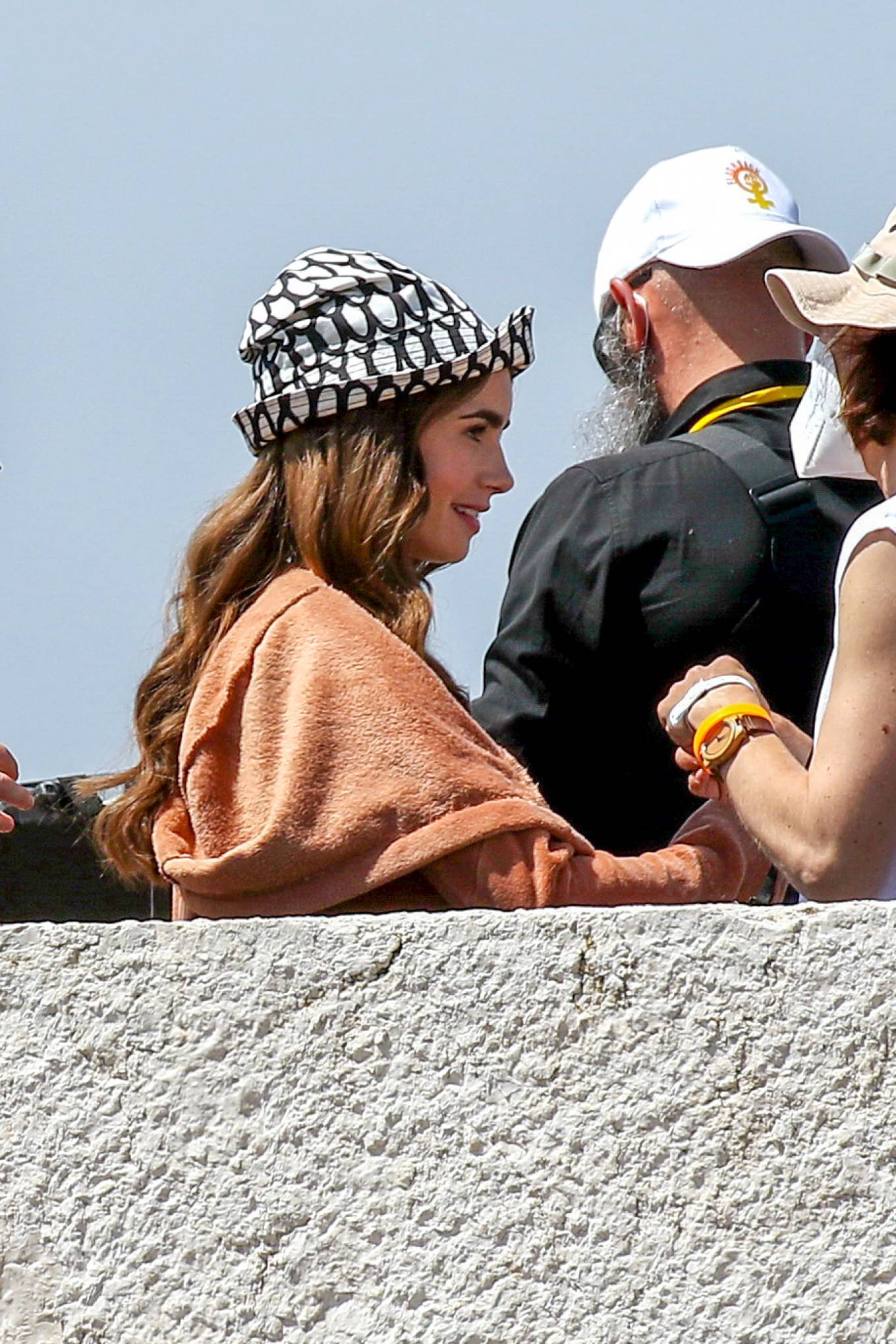 Lily Collins 2021 : Lily Collins – Filming of Emily In Paris on the French Riviera in Saint-Tropez-02