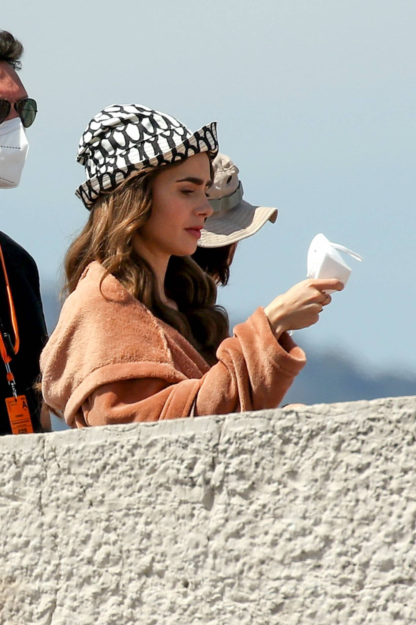 Lily Collins 2021 : Lily Collins – Filming of Emily In Paris on the French Riviera in Saint-Tropez-03