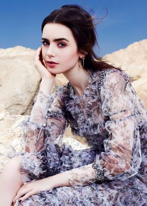Lily Collins - Glamour Mexico Magazine (July 2017)