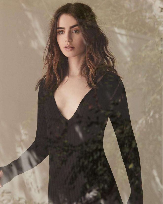 Lily Collins - Grazia Magazine (January 2018) adds