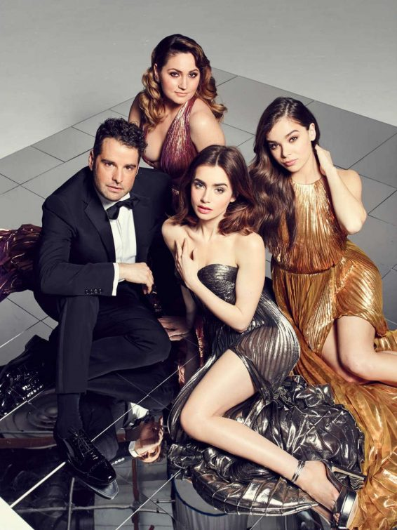 Lily Collins Hailee Steinfeld Mariel Haen and Rob Zangardi - The Hollywood Reporter (March 2017)