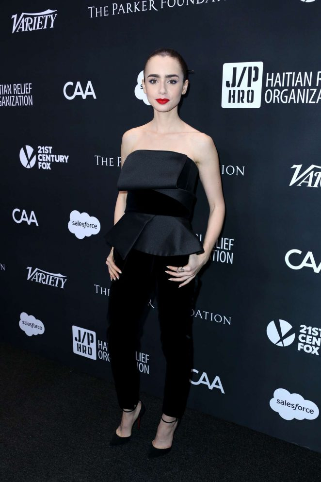 Lily Collins - Haiti Rising Gala in Beverly Hills