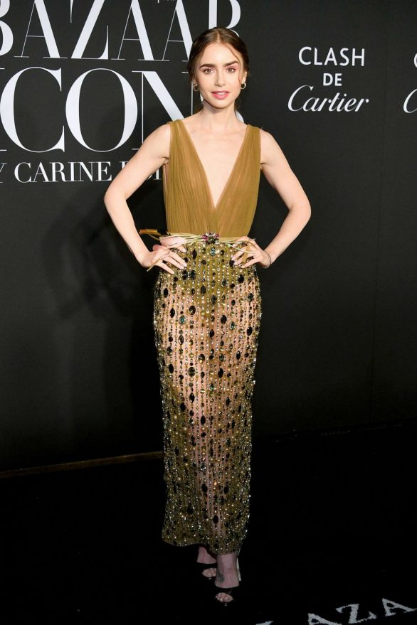 Lily Collins - Harper's BAZAAR celebrates 'ICONS By Carine Roitfeld' in NYC