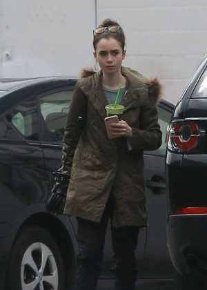 Lily Collins  heading to the massage place in West Hollywood