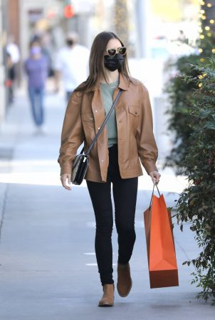 Lily Collins - Heads out to do some shopping at Hermes in Los Angeles