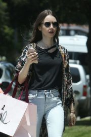 Lily Collins - Heads to a birthday party in LA