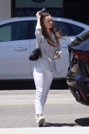 Lily Collins - Heads to a breakfast in Beverly Hills