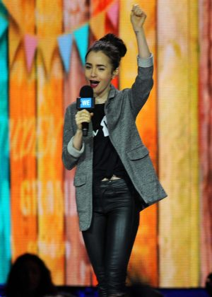 Lily Collins - hosts 'We Day' in Seattle
