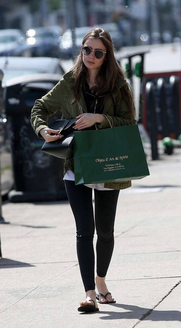 75a81321bb2 Lily Collins in Tights  Shopping in Hollywood -03 – GotCeleb