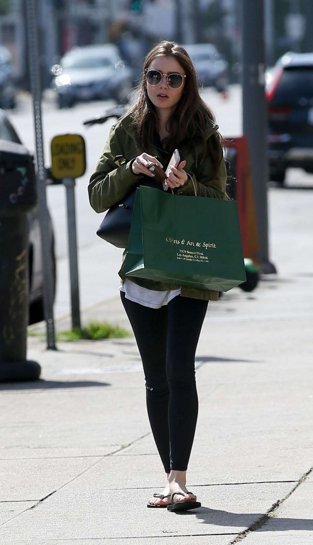 f02fea023eb Lily Collins in Tights  Shopping in Hollywood -06 – GotCeleb