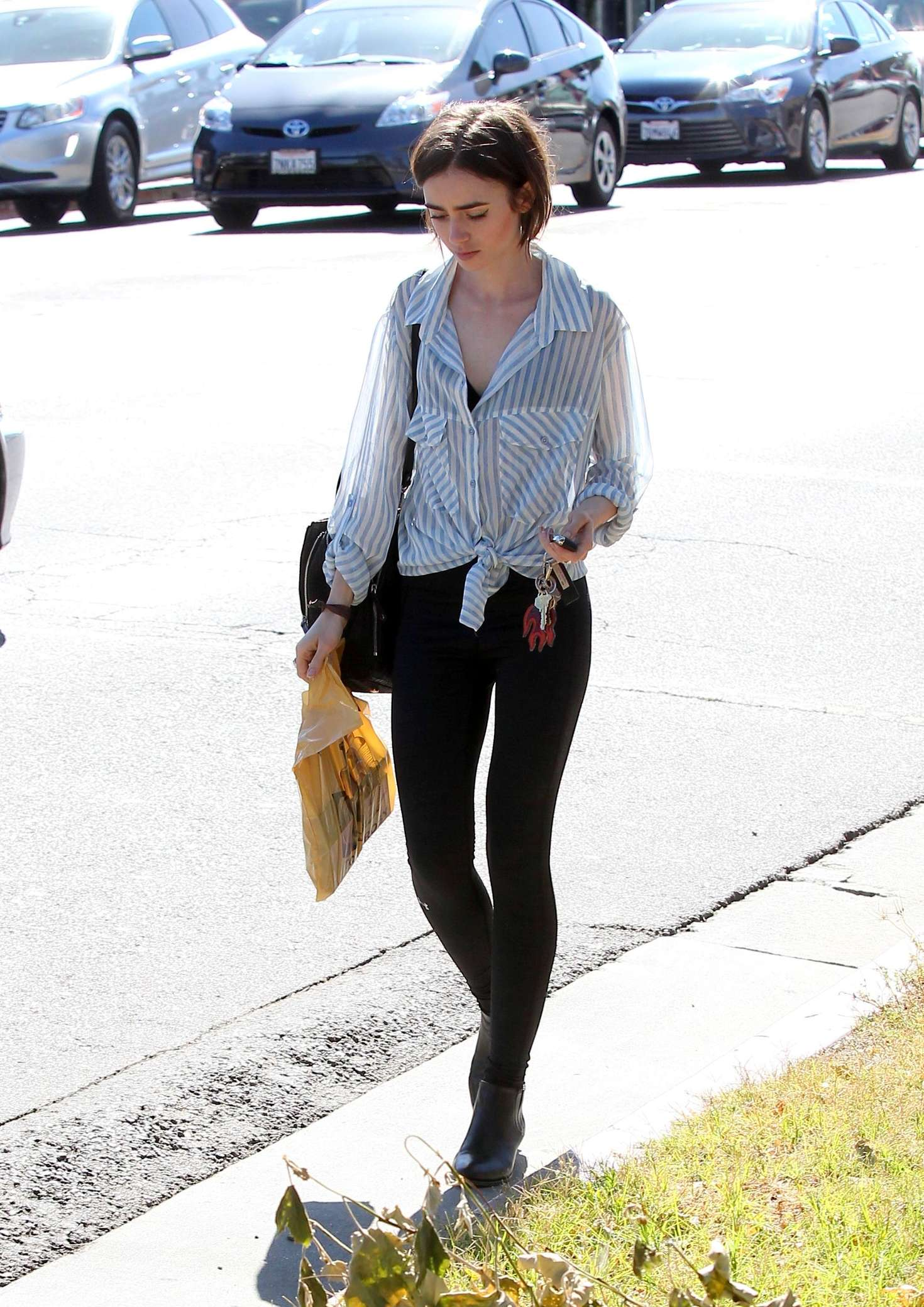 941f5a4d401 Lily Collins in Tights Shopping -10. Lily Collins in Tights Shopping in Los  Angeles