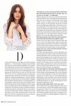 Lily Collins - InStyle Magazine (Deutschland - February 2021)
