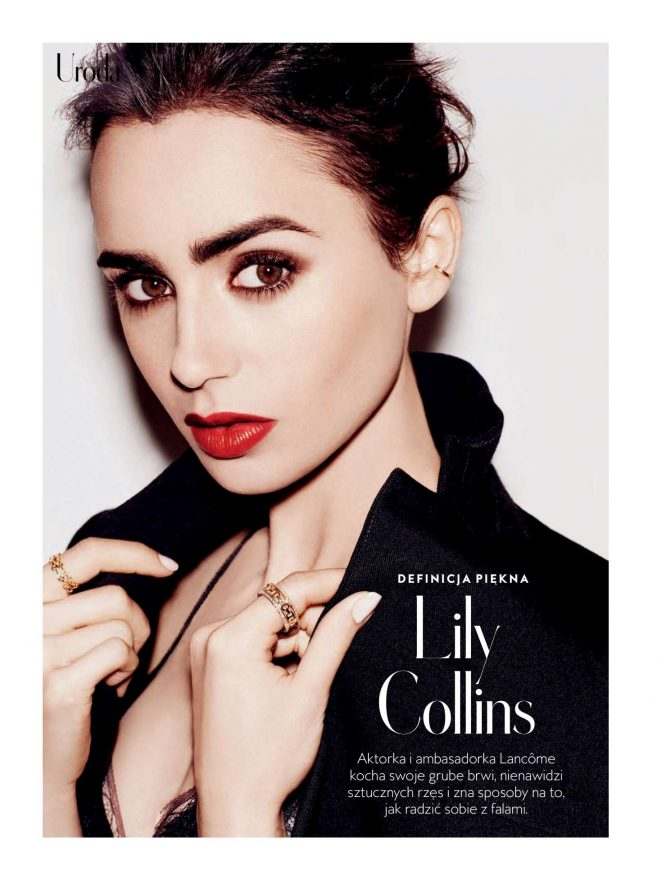 Lily Collins - InStyle Poland Magazine (March 2018)