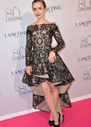 Lily Collins - Lancome Celebrates 80 Years of Beauty Photocall in Paris