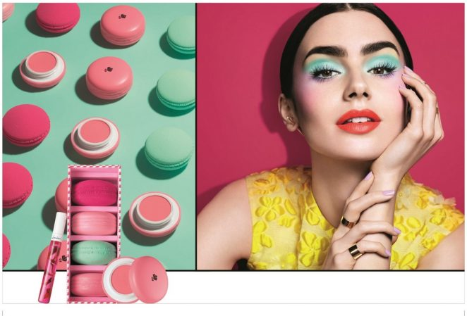 Lily Collins - Lancome's Spring 2018 Makeup Collection