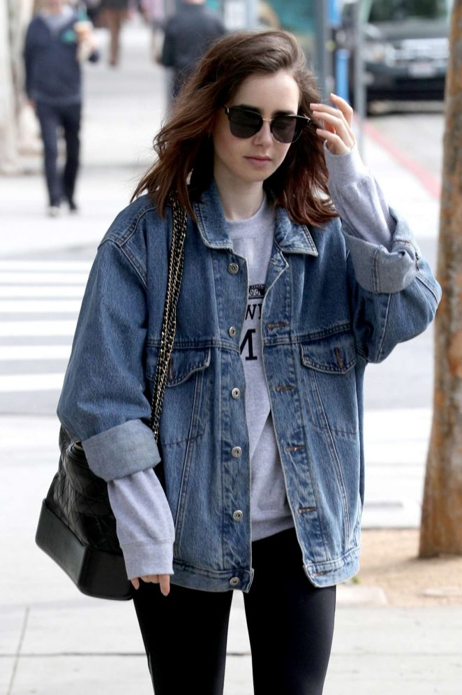Lily Collins Leaves a workout in West Hollywood