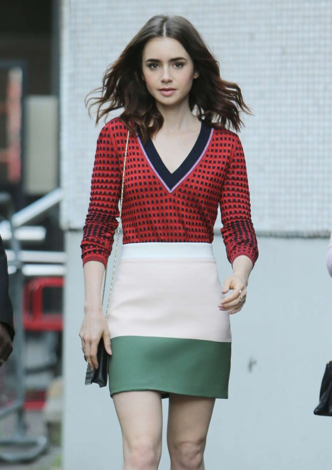 Lily Collins Leaves ITV Studios in London