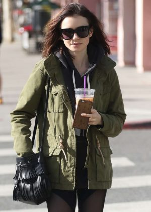 Lily Collins - Leaves The Gym in West Hollywood