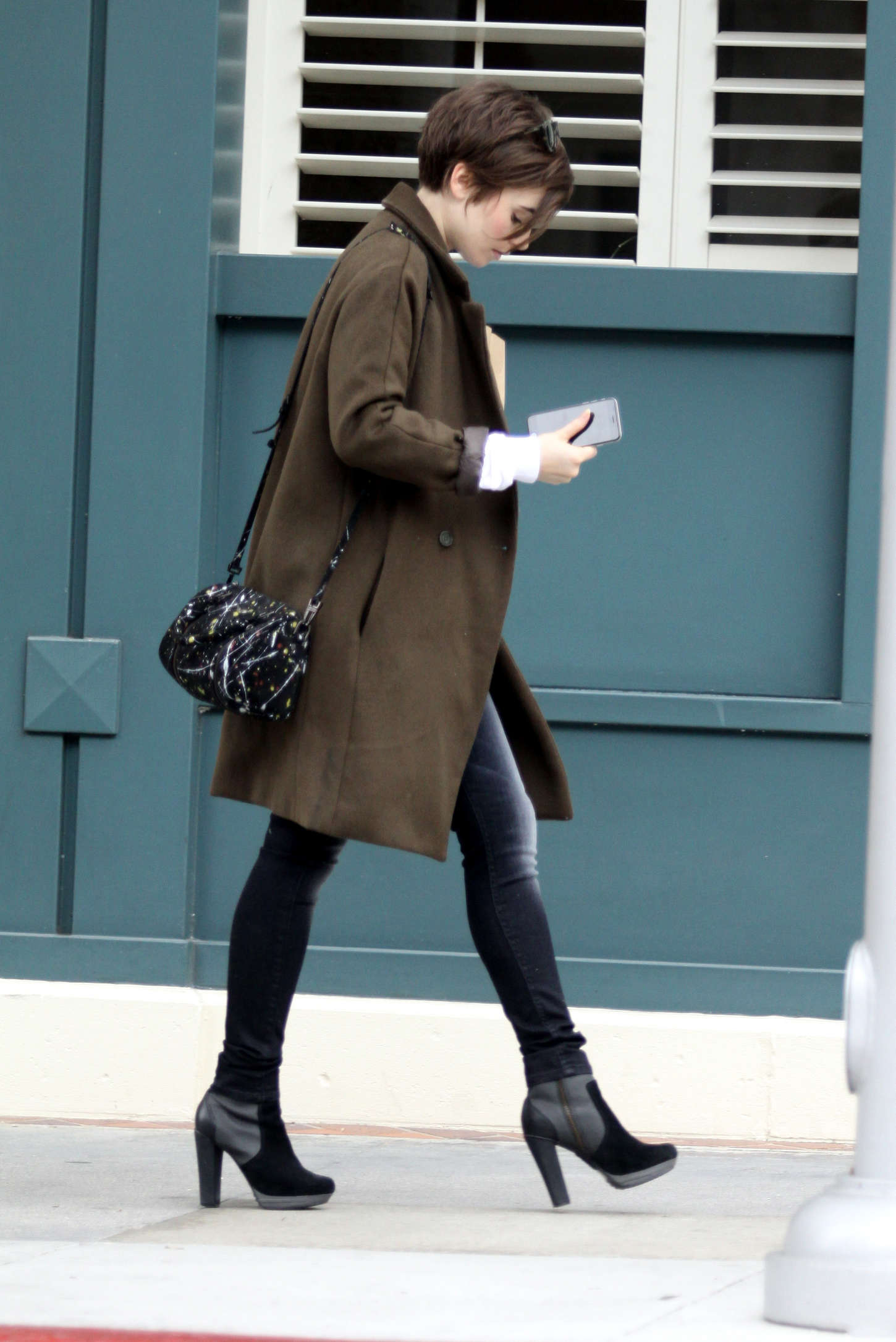 Lily Collins - Leaving a Medical Clinic in Beverly Hills