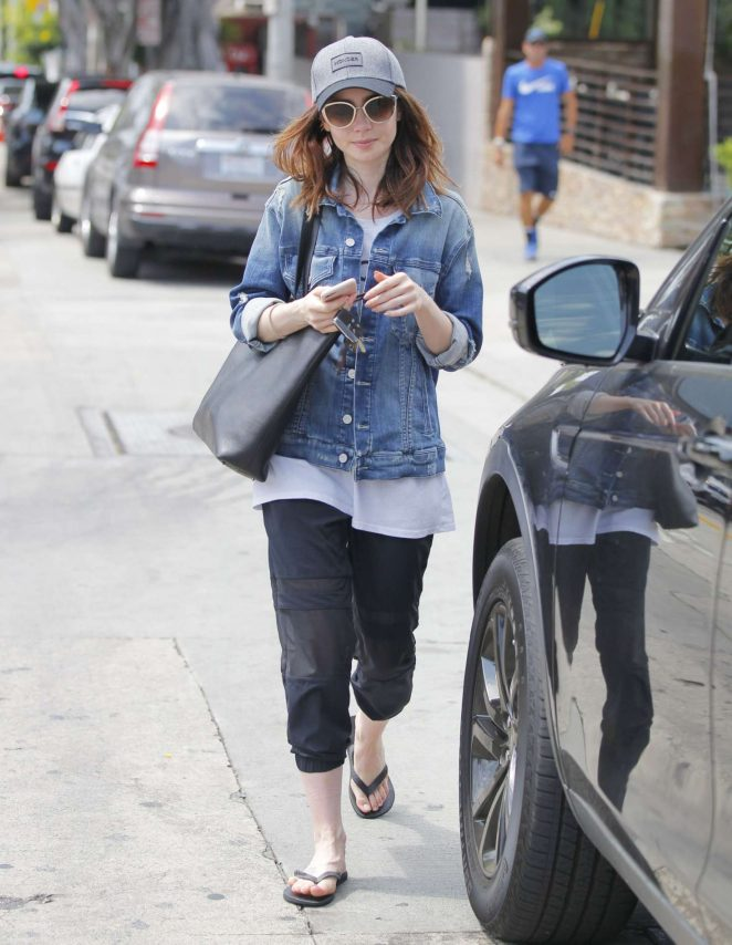 Lily Collins Leaving a Salon in Beverly Hills