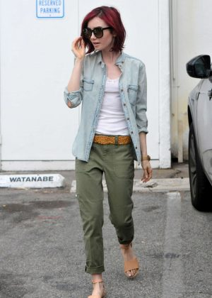 Lily Collins - Leaving an office building in Beverly Hills