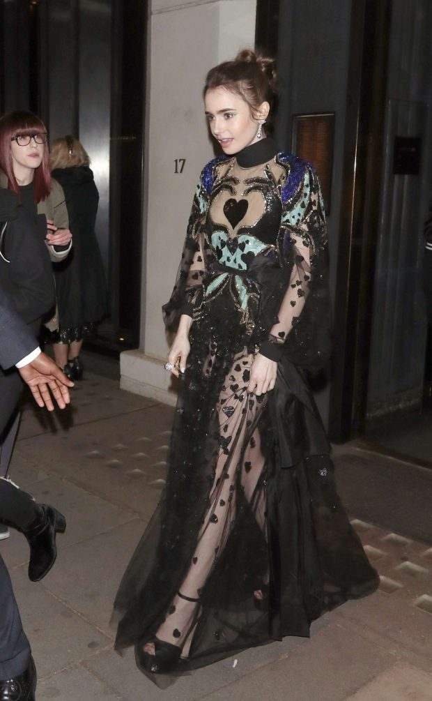 Lily Collins - Leaving the 'Extremely Wicked, Shockingly Evil and Vile' Premiere in London