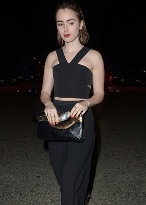 Lily Collins - Leaving The United Talent Agency Party in LA
