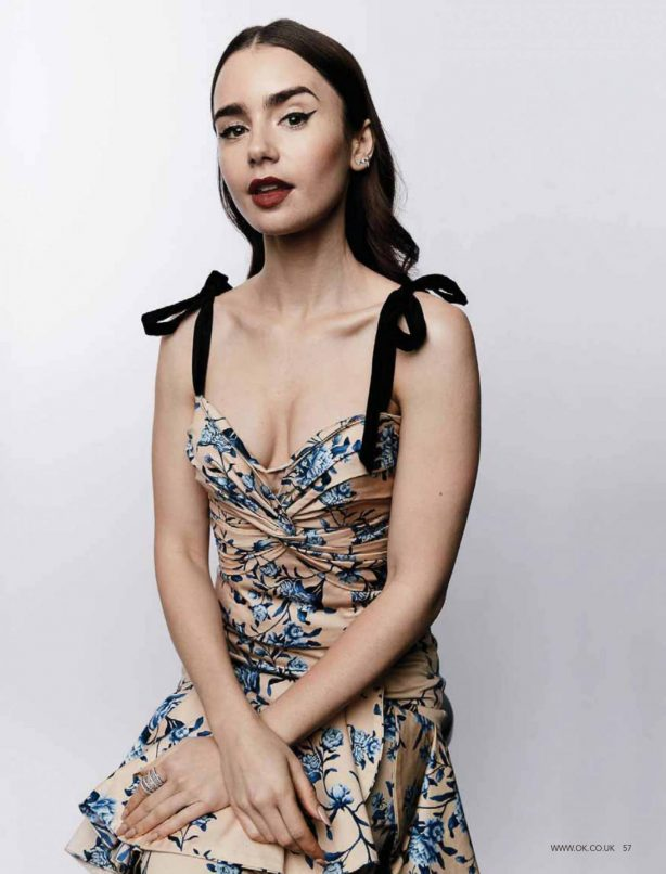 Lily Collins - OK Magazine UK - October 2020