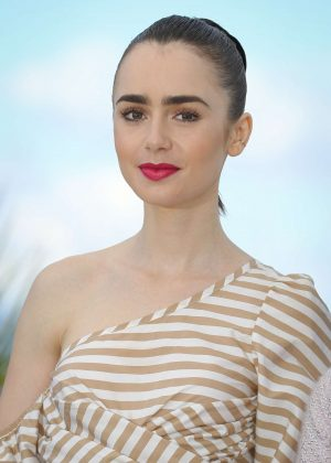 Lily Collins - 'Okja' Photocall at 70th Cannes Film Festival in Cannes