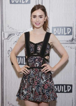 Lily Collins on AOL Build Show in NYC