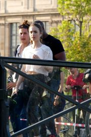 Lily Collins - On set of 'Emily in Paris' TV show in Paris