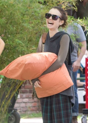Lily Collins on set of 'To The Bone' in LA