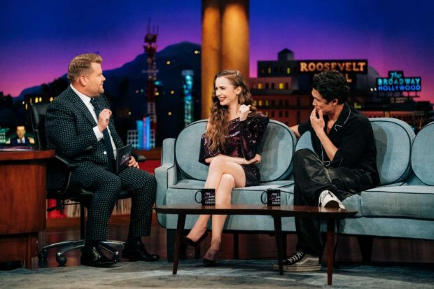 Lily Collins - On The Late Late Show with James Corden in LA