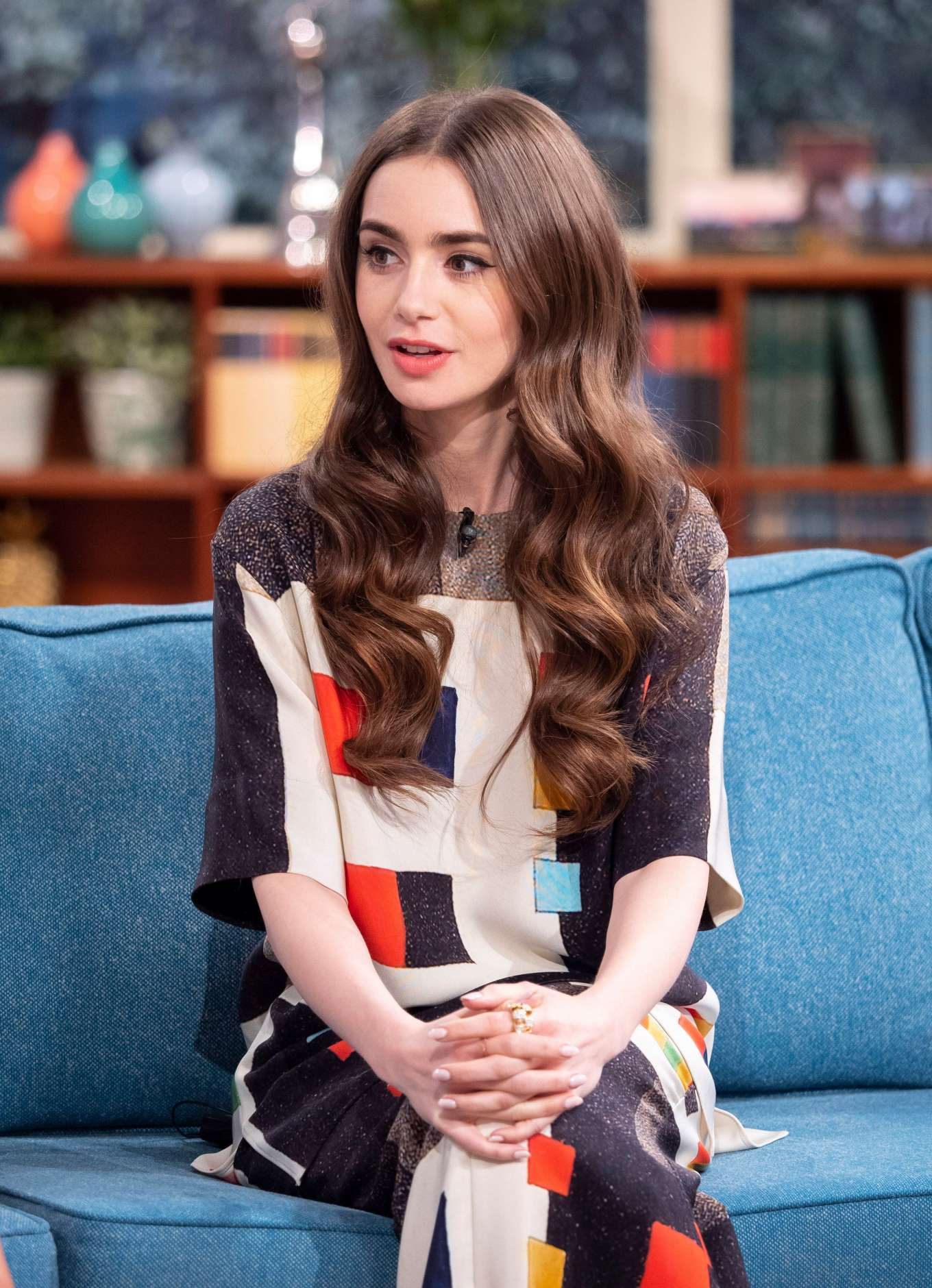Lily Collins - On This Morning TV Show in London