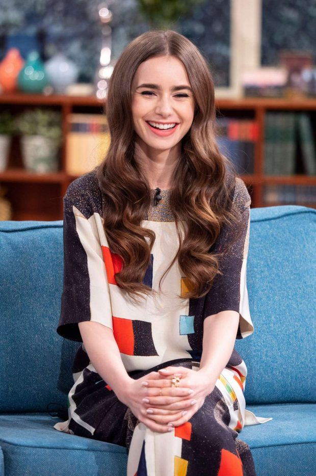 Lily Collins: On This Morning TV Show -04