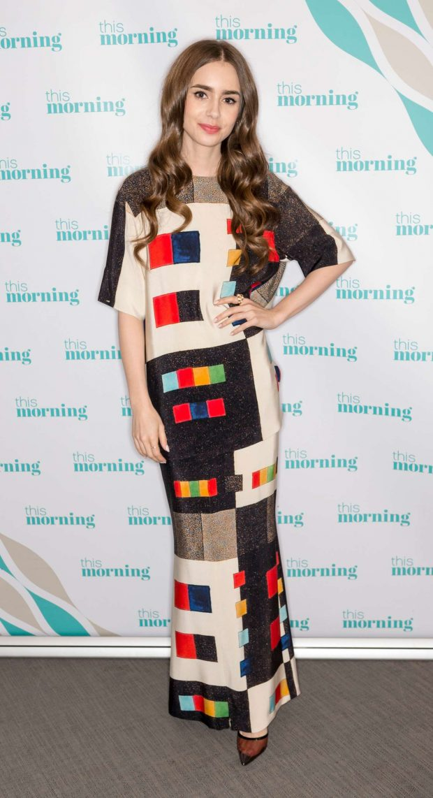 Lily Collins: On This Morning TV Show -07