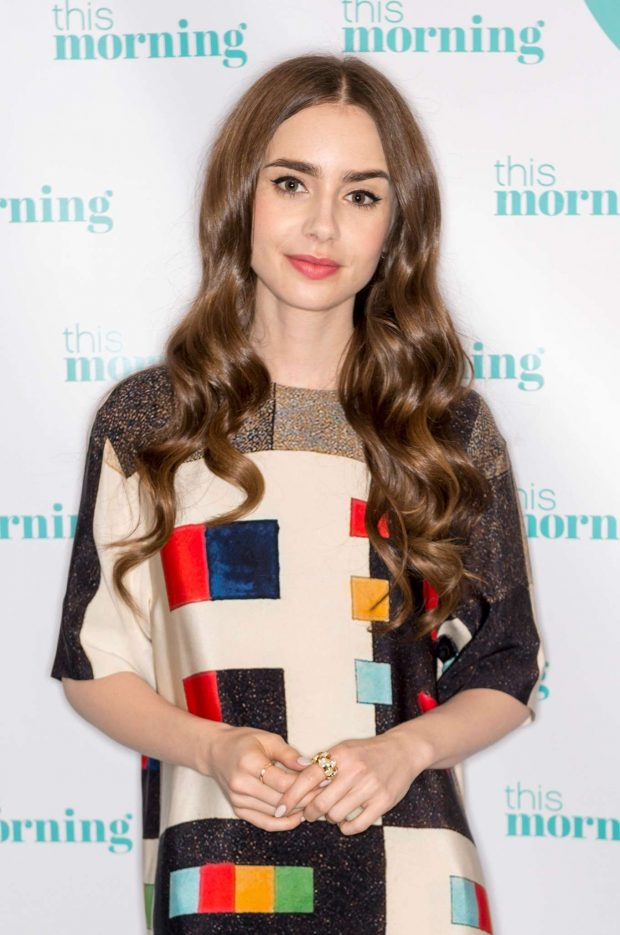 Lily Collins: On This Morning TV Show -08