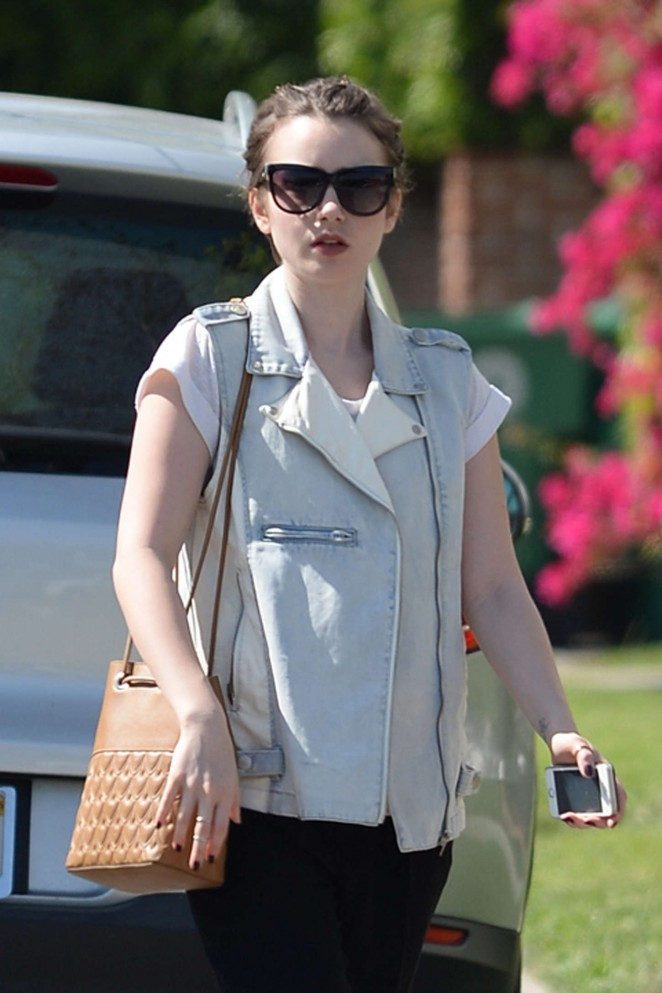 Lily Collins - Out and about in Beverly Hills